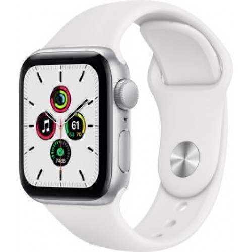 Apple Watch SE 40mm GPS Aluminium Case Silver (MYDP2F) SportBand White EU