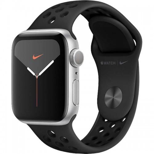 Apple Watch Series 5 Nike+ 44mm GPS (MX3W2) Aluminium Case Silver with Nike SportBand Black EU