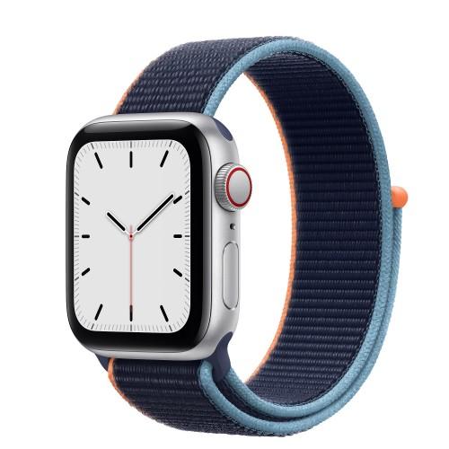 Apple Watch SE Cellular 40mm Aluminium Silver With Sport Loop Deep Navy (MYEJ2F) EU